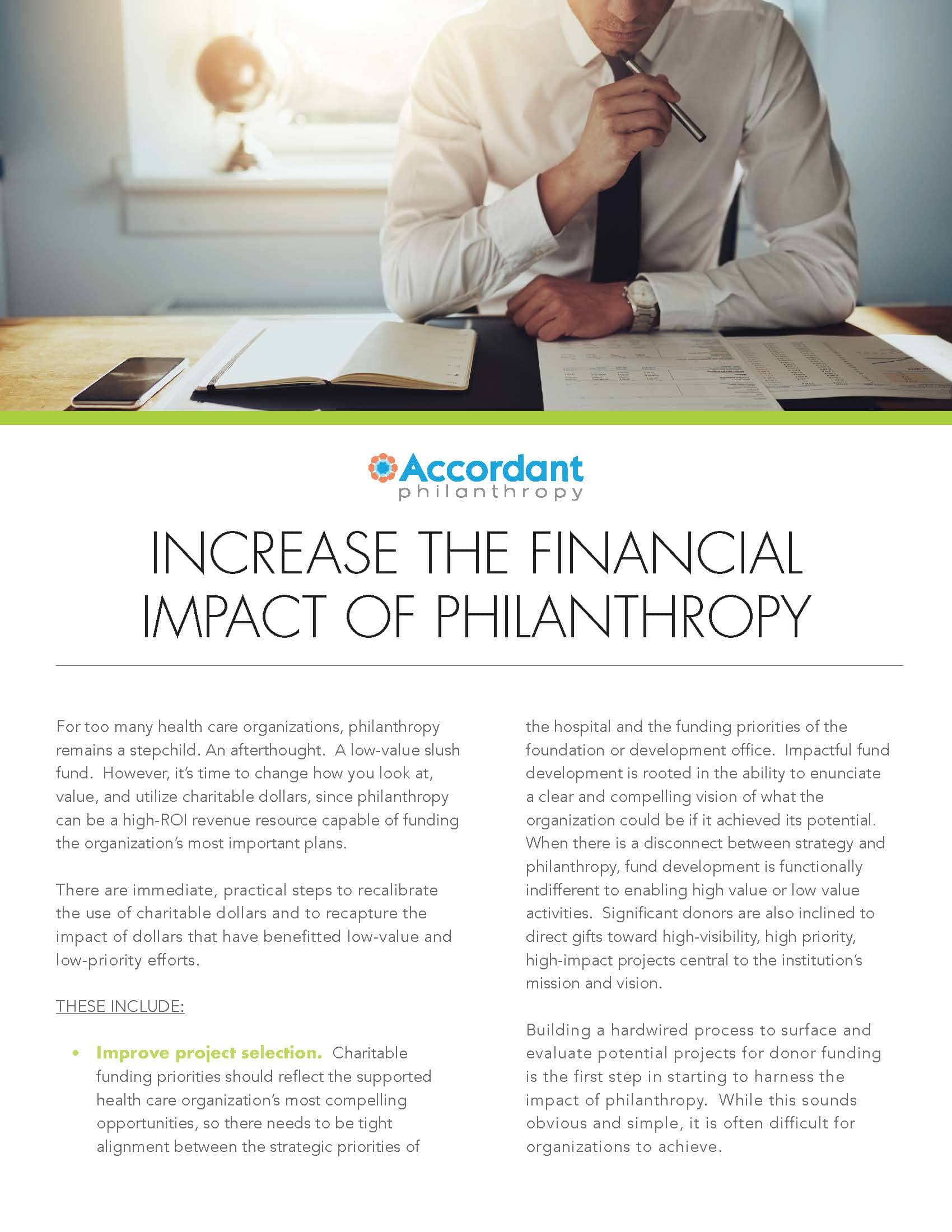 Increase the Financial Impact of Philanthropy