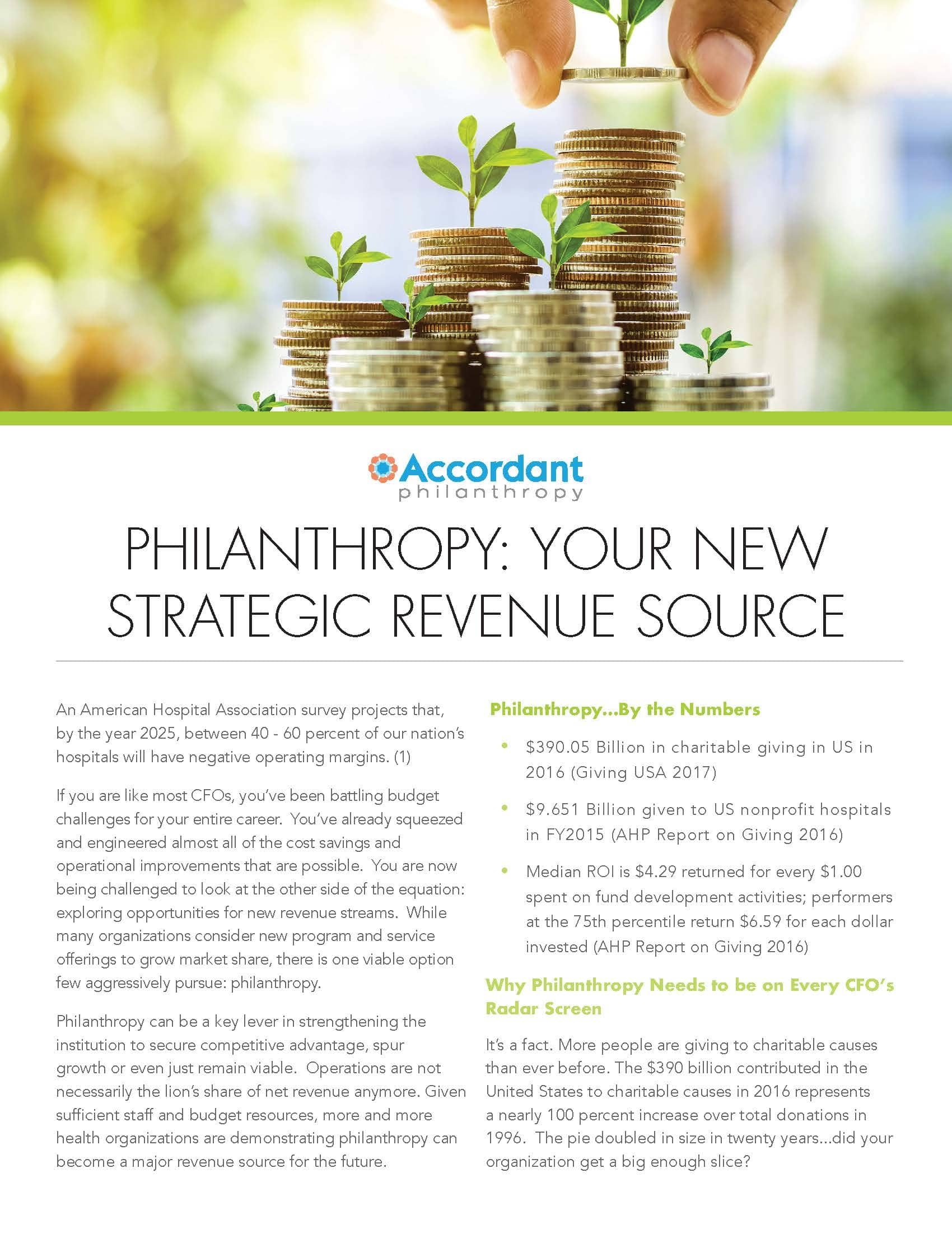 Philanthropy: Your New Strategic Revenue Source