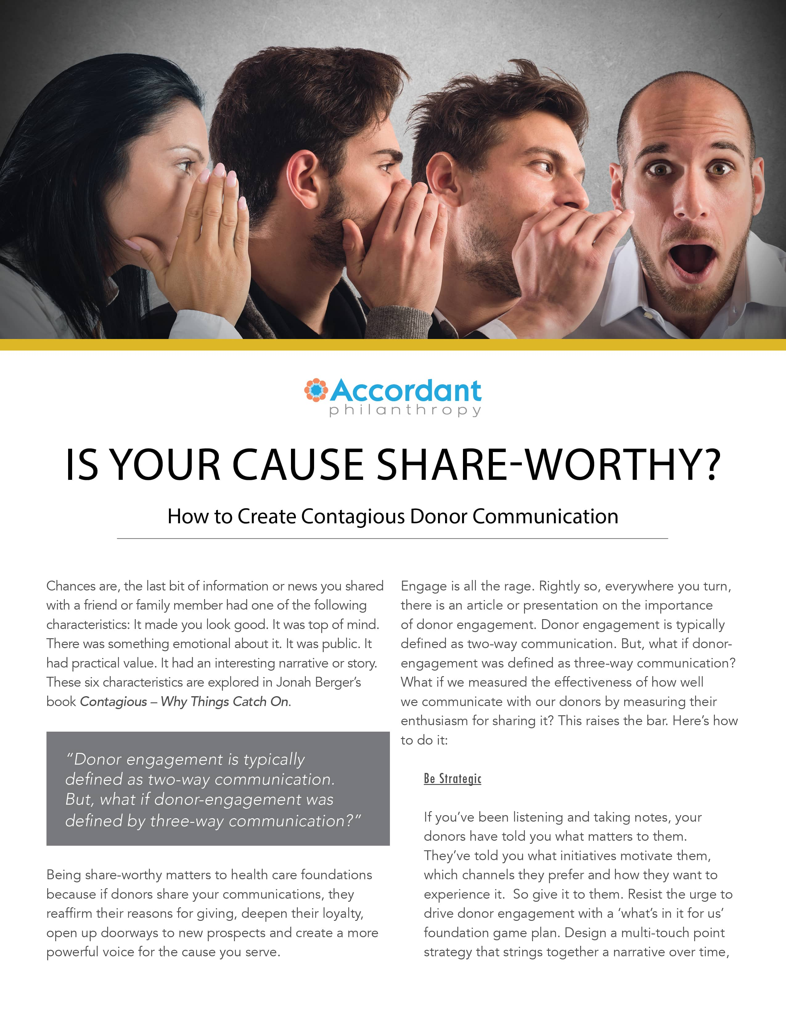 Is Your Cause Share-Worthy