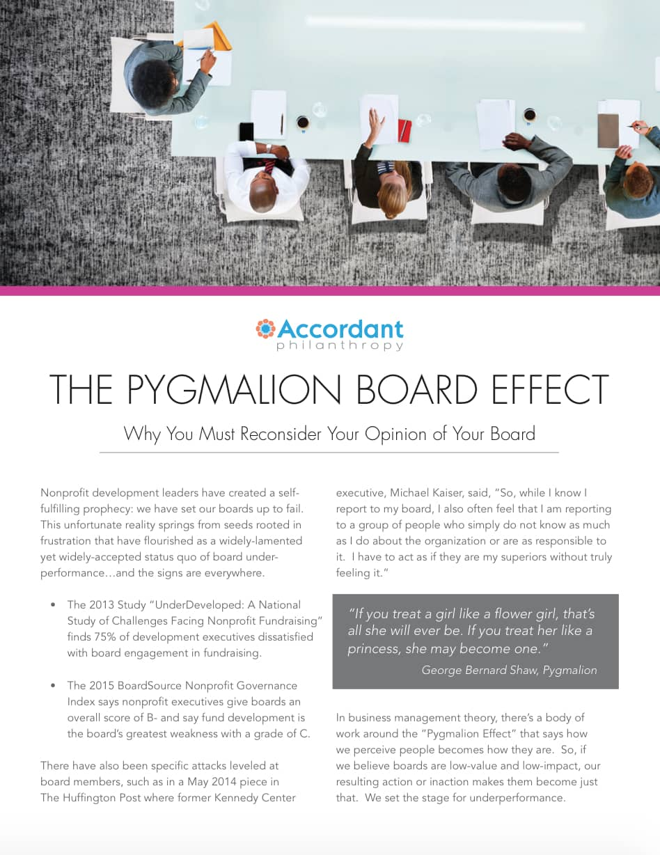 The Pygmalion Board Effect