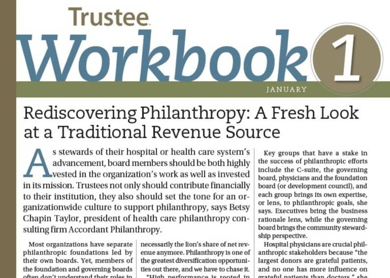 REDISCOVERING PHILANTHROPY