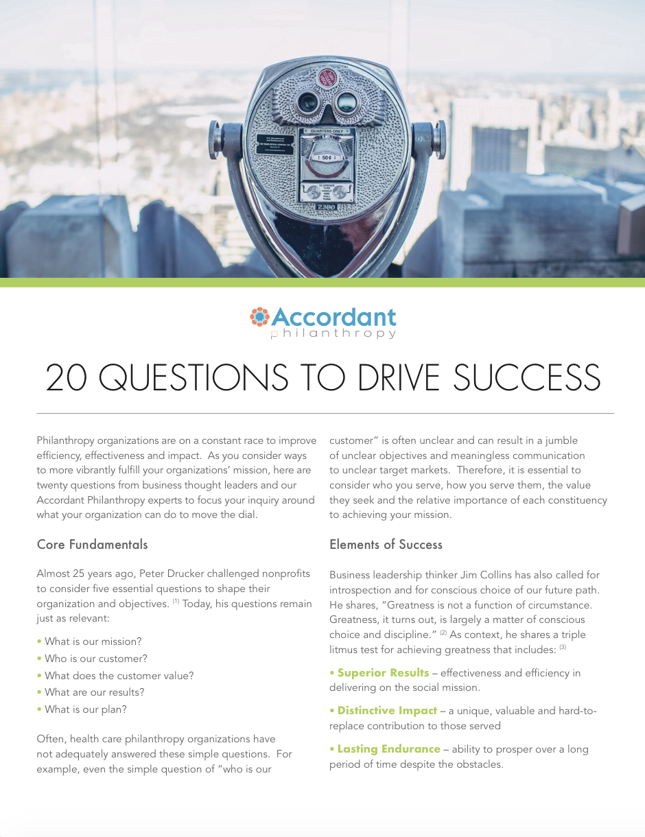 20 Questions to Drive Success