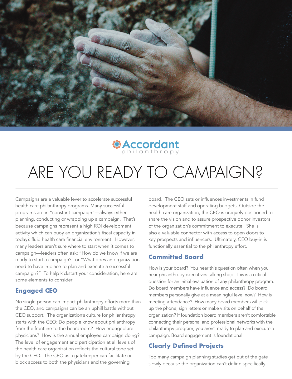 Are You Ready To Campaign?