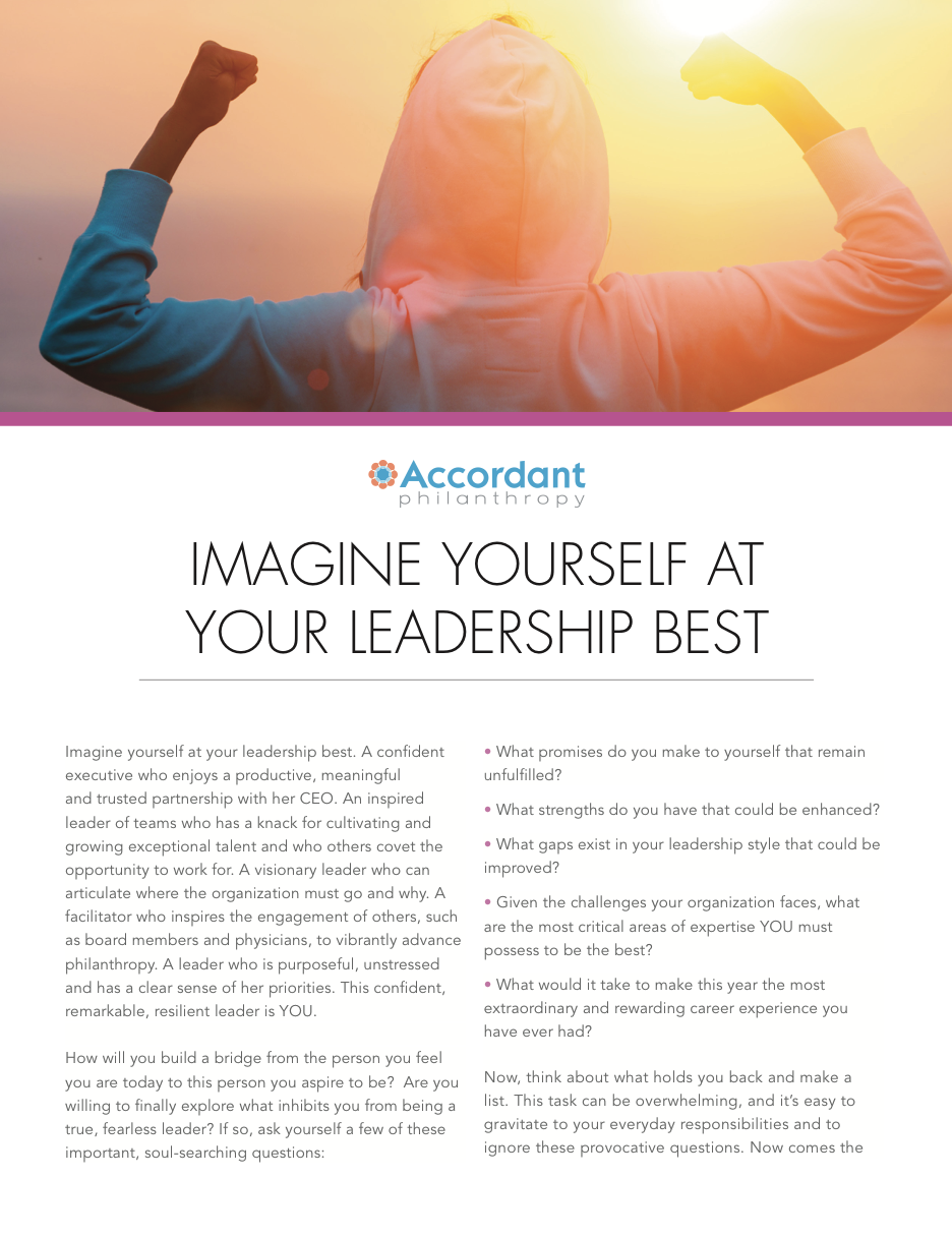 Imagine Yourself At Your Leadership Best