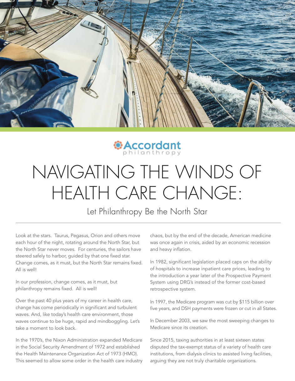 Navigating the Winds of Health Care Change