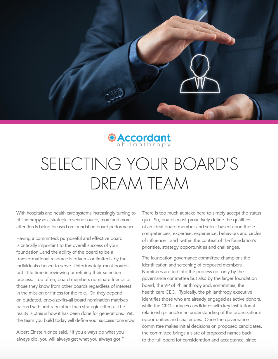 Selecting Your Board's Dream Team