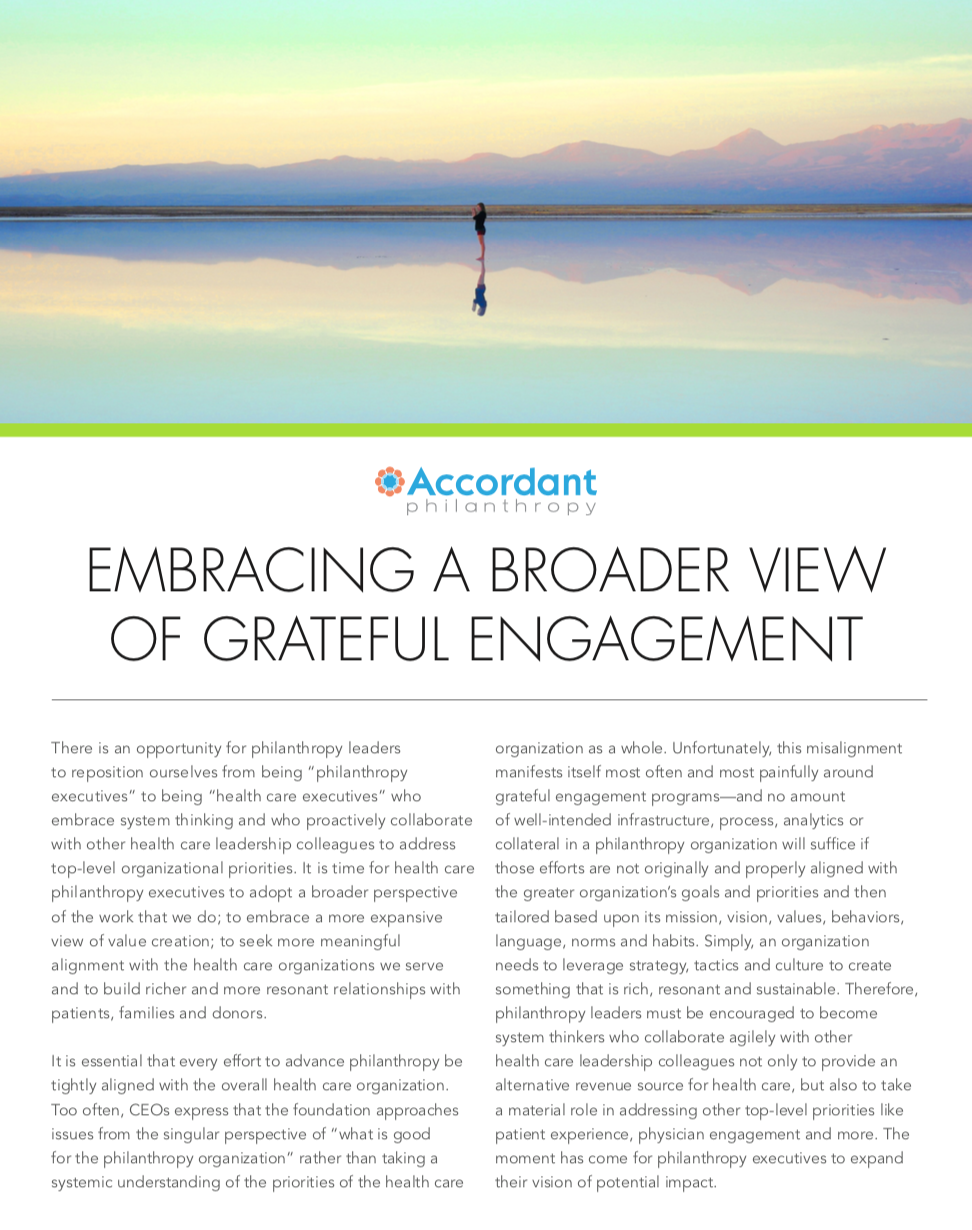 Embracing a Broader View of Grateful Engagement