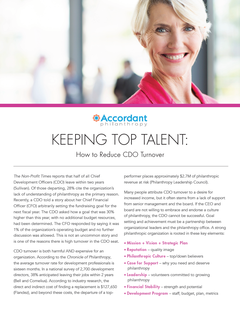 KEEPING TOP TALENT: