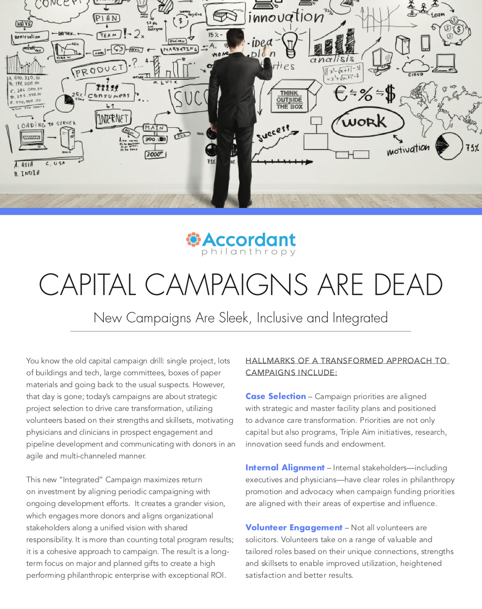 Capital Campaigns Are Dead